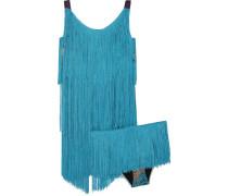 Mare Fringed Crochet-knit Bikini Türkis