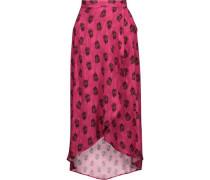 Laos asymmetric printed voile wrap maxi skirt