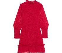 Elisa Minikleid aus Chiffon mit Fil Coupé und Rüschenbesatz