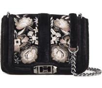 Embroidered Velvet Shoulder Bag