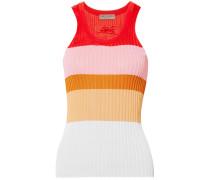 Color-block Ribbed-knit Tank