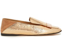 Sr1 Loafers aus Metallic-leder