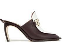 Embellished Leather Mules