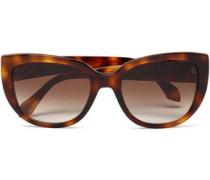 Cat-eye Tortoiseshell Acetate Sunglasses Light Brown Size --