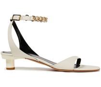 Sandalen aus Leder mit Kettendetail