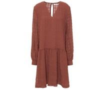 Kleid aus Jacquard in Knitteroptik mit Raffung