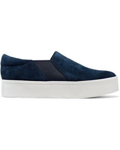 Warren Suede Platform Slip-on Sneakers Navy