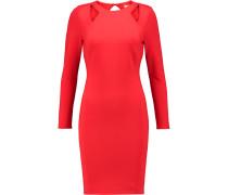 Cutout Ponte Mini Dress Rot