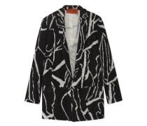 Oversized intarsia wool-blend blazer