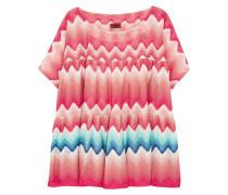 Pleated Crochet-knit Kaftan Mehrfarbig