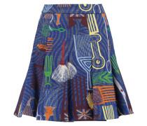 Printed Stretch-cotton Canvas Mini Skirt Mehrfarbig