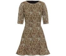 Celia-c Minikleid aus Stretch-crêpe mit Leopardenprint und Pailletten