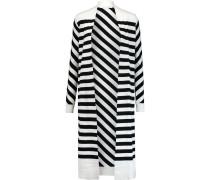 Carlisle Striped Silk-blend Cardigan Weiß