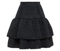 Aine Tiered Matelassé Mini Skirt
