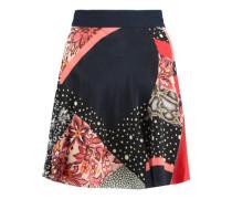 Printed silk mini skirt