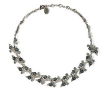 Silver-tone crystal necklace
