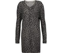 Eunice Printed Cashmere Sweater Dress Anthrazit