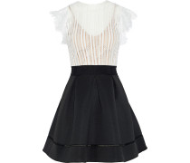 Ina Lace And Pleated Neoprene Mini Dress
