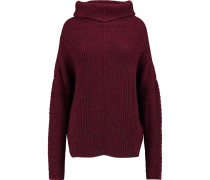 Ribbed-knit Turtleneck Sweater Bordeaux