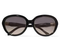 Round-frame Acetate Sunglasses Schwarz