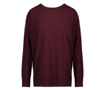 Wrap-effect wool and cashmere-blend sweater