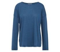 Tencel, Linen And Cotton-blend Jersey Top