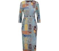 Printed Cotton-blend Midi Dress Mehrfarbig