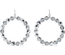 Sterling  Crystal Hoop Earrings