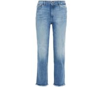 Mara Halbhohe Jeans mit Geradem Bein und Fransen