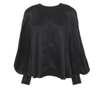 Hammered Silk-satin Blouse