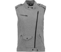 Blair Cotton-jersey Vest Grau