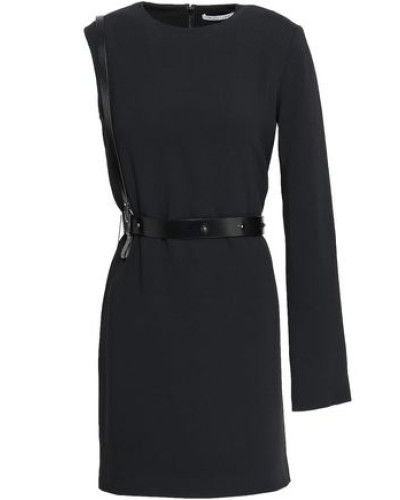 Stretch-crepe Mini Dress Black