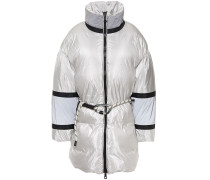Fireman Color-block Quilted Shell Down Hooded Coat