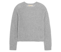 Open-knit Cashmere Sweater Grau