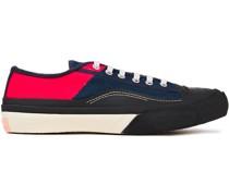 Sneakers aus Baumwoll-canvas in Colour-block-optik