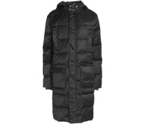 Quilted shell hooded coat