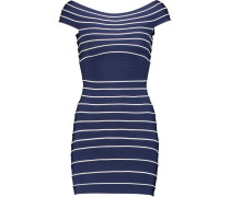Striped Bandage Mini Dress Navy