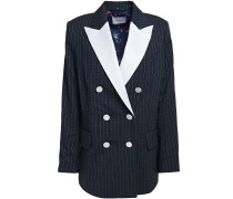 Casablanca Double-breasted Pinstriped Stretch-wool Blazer