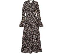 Open-back Silk-satin Maxi Dress