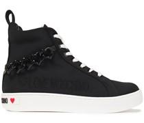 High-top-sneakers aus Shell mit Verzierung