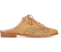 Dracena woven leather slip-on brogues