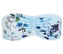 Trippy Gerafftes Bandeau-bikini-oberteil mit Floralem Print