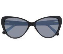 Cat-eye Acetate Sunglasses Black Size --