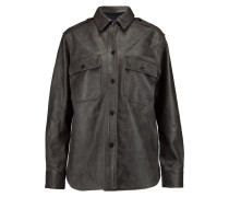 Coated Textured-leather Jacket Schiefer