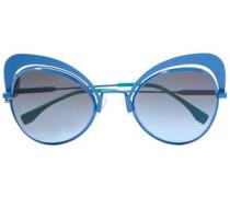 Cat-eye Metal Sunglasses Cobalt Blue Size --