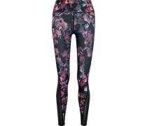 Stretch-leggings mit Einsätzen und Floralem Print