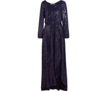Delani sequined-silk maxi dress