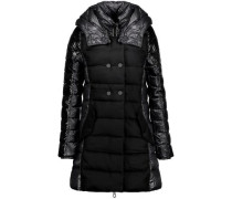 Callipatira quilted shell and wool-blend hooded coat