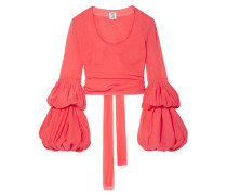 Tiered Cropped Cotton Top