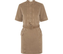 Cupa Cotton-corduroy Mini Dress Armeegrün